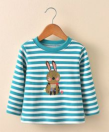 Pre Order - Awabox Rabbit Print Tee - Blue