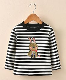 Pre Order - Awabox Rabbit Print Tee - Black