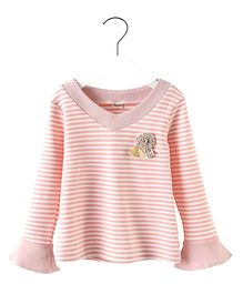 Pre Order - Awabox Striped Tee - Pink