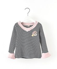 Pre Order - Awabox Striped Tee - Black