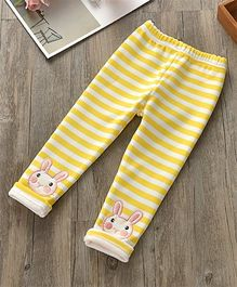 Pre Order - Awabox Striped Print Leggings - Yellow