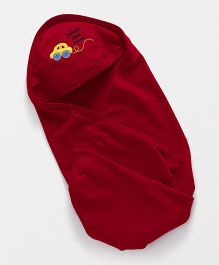 Simply Hooded Wrapper Car Patch - Maroon