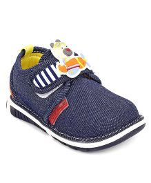 Cute Walk by Babyhug Casual Shoes Teddy Applique - Navy