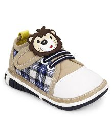 Cute Walk by Babyhug Casual Shoes Lion Motif - Beige