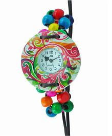 Angel Glitter Organic Coconut Wood Watch - Multicolour