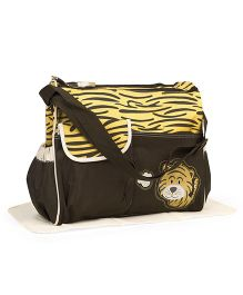 Diaper Bag With Changing Mat Tiger Patch - Yellow