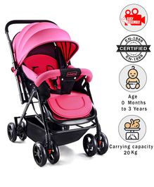 Babyhug Symphony Stroller With Mosquito Net - Pink