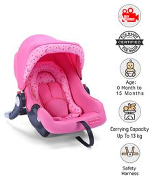 Babyhug Onyx Car Seat Cum Carry Cot - Pink