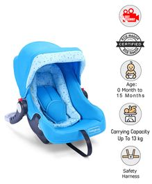 Babyhug Onyx Car Seat Cum Carry Cot - Blue