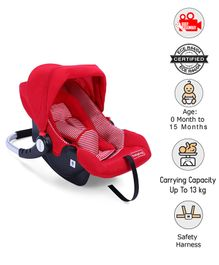 Babyhug Onyx Car Seat Cum Carry Cot - Red
