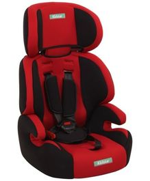 Fab N Funky High Back Car Seat Red N Black - Upto 14 Kg