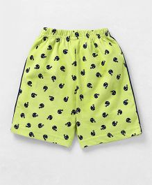 Taeko Shorts Helmet Print - Lemon Green