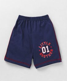Taeko Shorts Little Brother Print - Dark Blue
