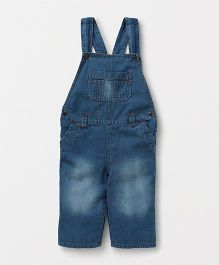 Eimoie Casual Denim Dungaree - Blue
