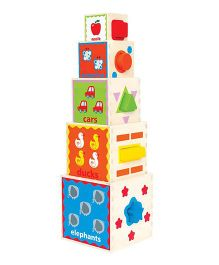 Hape Pyramid of Play Pack of 5 - Multi Colour