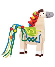 Hape Wooden Lacing Pony Multicolor - 20 Pieces