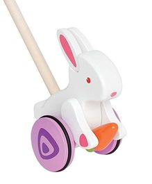 Hape Wooden Bunny Push & Pull  Walking Toy - Multicolor