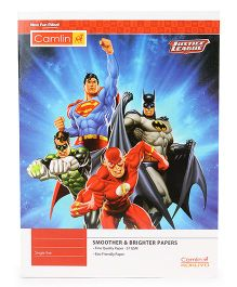 Kokuyo Camlin Single Rule Notebook Justice League Theme Red Blue - 172 Pages