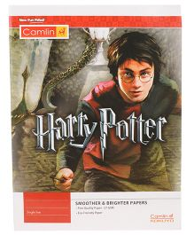 Kokuyo Camlin Single Rule Notebook Harry Potter Theme Red - 172 Pages