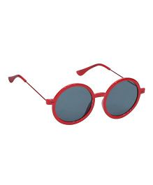 Glucksman Classic Round Kids Sunglasses - Red