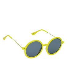 Glucksman Classic Round Kids Sunglasses - Yellow