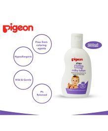 Pigeon Baby Milky Lotion 2 In 1 White - 200 ml