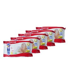 Pigeon Extra Soft Baby Wipes Pack of 5 - 80 Wipes Each