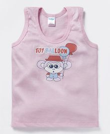Tango Sleeveless Vest Toy Balloon Print - Pink