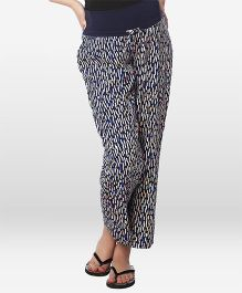 Nine Maternity Pajama Printed - Navy