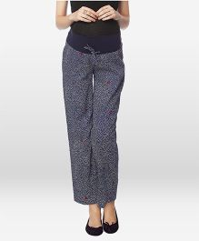 Nine Maternity Pajama Printed - Blue