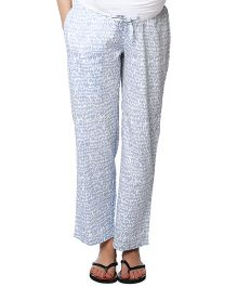 Nine Maternity Pajama Heart Printed - Blue