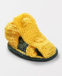 Knits & Knots Front Strap Booties - Yellow