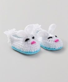 Knits & Knots Bunny Booties - White