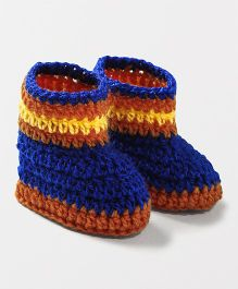 Knits & Knots Snug Fitting Booties - Blue