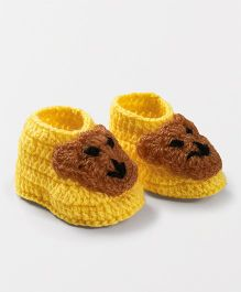 Knits & Knots Bear Booties - Yellow