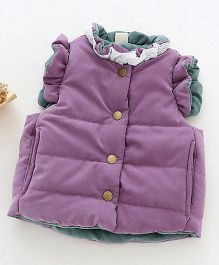 Pre Order - Awabox Quilted Stylish Jacket - Purple