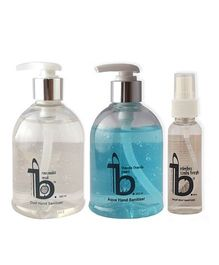 Be The Solution Nimbu & Aqua Hand Sanitizer With Toilet Seat Sanitizer Pack of 3 - 300 ml each Plus 50 ml