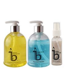Be The Solution Lemongrass & Aqua Hand Sanitizer With Toilet Seat Sanitizer Pack of 3 - 300 ml each