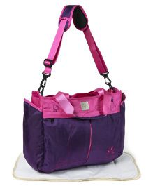 Mee Mee Mama's Bag With Changing Mat - Pink Purple