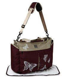 Mee Mee Mama's Bag With Changing Mat - Dark Maroon