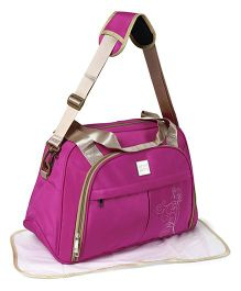 Mee Mee Mama's Bag With Changing Mat - Bright Pink