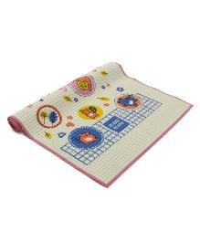 Mee Mee  Air-Filled Waterproof Multi-Functional Mat - White & Pink