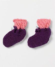 The Original Knit Stylish Booties - Purple