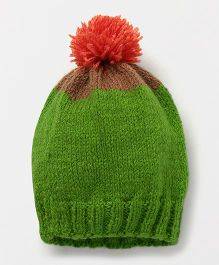 The Original Knit Stylish Cap With Pom Pom - Green
