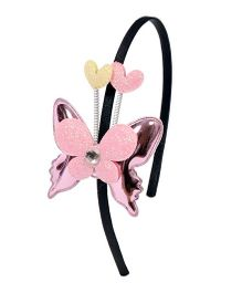 Miss Diva Butterfly With Ears Hairband - Pink