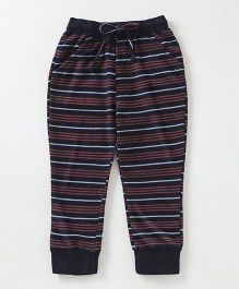 Olio Kids Full Length Stripe Lounge Pant - Navy Red