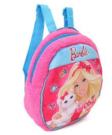 Barbie Plush Bag Blue Pink - Height 12 inches