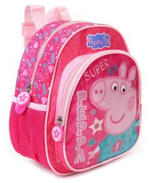 Peppa Pig School Bag Heart Print Pink - Height 10 Inches