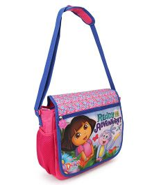 Dora School Bag Padded Strap Pink Blue - Height 12.81 inches