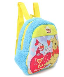 Winnie the Pooh And Friends Plush Bag Blue Yellow - Height 11.81 Inches